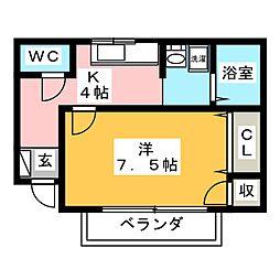 グランシャリオ A棟[1階]の間取り