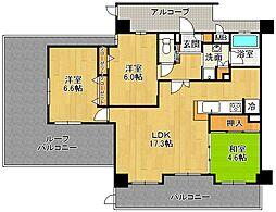 エステムコート伊丹緑ヶ丘グレイス[4階]の間取り