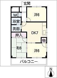 ファミーユ喜多山[2階]の間取り