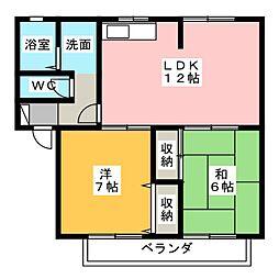 ディアコートIA[2階]の間取り