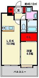 LIBTH高宮[4階]の間取り