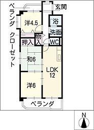 ル・プラン[4階]の間取り