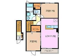 ルミウスB棟[2階]の間取り