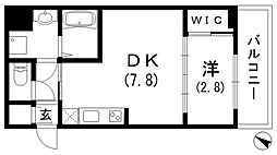 アドバンス三宮ラシュレ[2階]の間取り