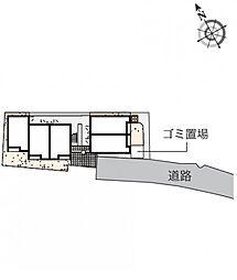 クレイノメトロノーム坂下[1階]の間取り