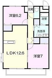 長谷川マンション[5F-B号室]の間取り