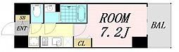 プレサンス OSAKA DOMECITY クロスティ 6階1Kの間取り