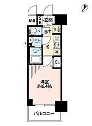 プレサンス新大阪イオリア(旧:プレサンス新大阪ラ・トゥール) 10階1Kの間取り