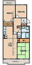 マッティーナ神戸壱番館[E-3号室]の間取り