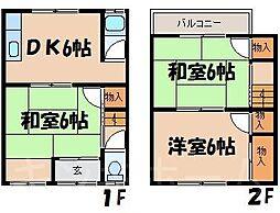 [一戸建] 広島県広島市安芸区船越南3丁目 の賃貸【/】の間取り