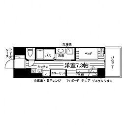Uni Apartner 6番館[食事付き](仮称:UniL 3階ワンルームの間取り