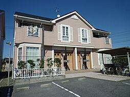 岡山県倉敷市茶屋町の賃貸アパートの外観
