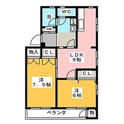 園山スリーハウス[3階]の間取り