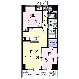 畑田町店舗付マンション[0201号室]の間取り