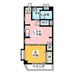 愛知県名古屋市中村区乾出町1丁目の賃貸マンションの間取り