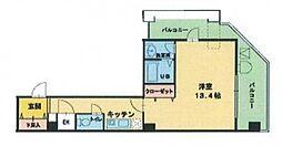 ヴィレ新宿御苑[7階]の間取り