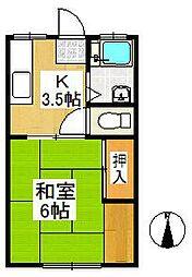 CITYサンフラット[1階]の間取り