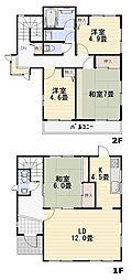 [一戸建] 埼玉県飯能市美杉台4丁目 の賃貸【/】の間取り