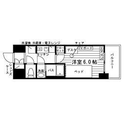 (仮称)本蓮沼駅学生会館 食事付き 2階1Kの間取り