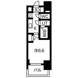 名古屋市営桜通線 今池駅 徒歩8分の賃貸マンション 8階1Kの間取り