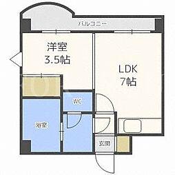 北海道札幌市中央区南九条西12丁目の賃貸マンションの間取り