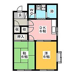 メゾン62II[2階]の間取り
