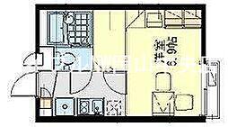 レオパレスルリームII[2階]の間取り
