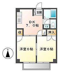 グリーンハイムI[1階]の間取り