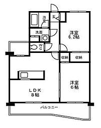レジデンスつくほC[2階]の外観