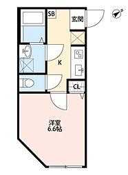 マツドシンデンハッピーハウス[203号室号室]の間取り