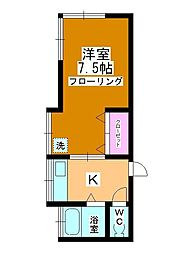 新井荘[201号室]の間取り