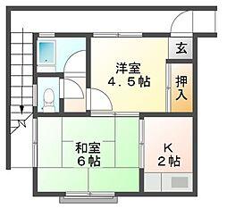小林荘[2階]の間取り