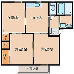 クランベリーS[1階]の間取り