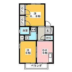 ファミーユC[2階]の間取り