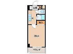 ウイング黒田[4階]の間取り