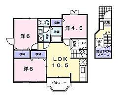 アルティプラーノ・ハヤシI[2階]の間取り
