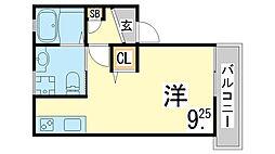 JR東海道・山陽本線 新長田駅 徒歩4分の賃貸アパート 1階1Kの間取り