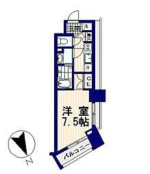 ハラスパジオBP[4階]の間取り