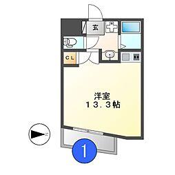 THUマンション[5階]の間取り