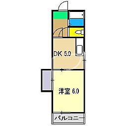 ハイツサンバード[3階]の間取り