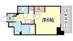 エスリード神戸三宮[9階]の間取り