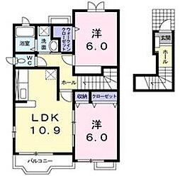 プロムナードIIA[2階]の間取り
