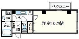 阪神本線 深江駅 徒歩6分の賃貸マンション 3階1Kの間取り