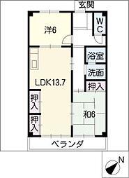 サニーヒル新栄[1階]の間取り