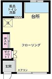 神奈川県鎌倉市台2丁目の賃貸アパートの間取り