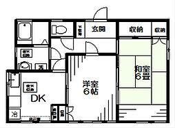 高橋アパート[1F号室]の間取り