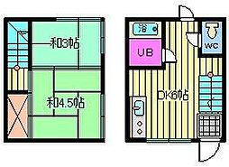 [テラスハウス] 埼玉県さいたま市大宮区宮町3丁目 の賃貸【埼玉県 / さいたま市大宮区】の間取り