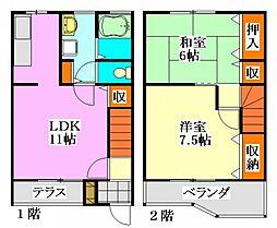ガーデンツカサIII[1階]の間取り