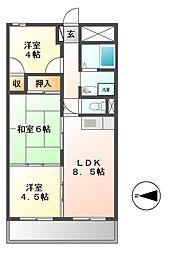 ラコー13[6階]の間取り