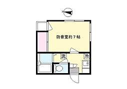 メゾンタクト[4階]の間取り